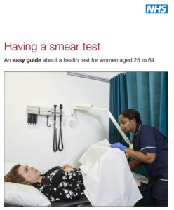 NHS smear test guide